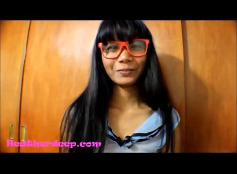 HD Heather Deep gets it in the ass and pussy and cum on glasses